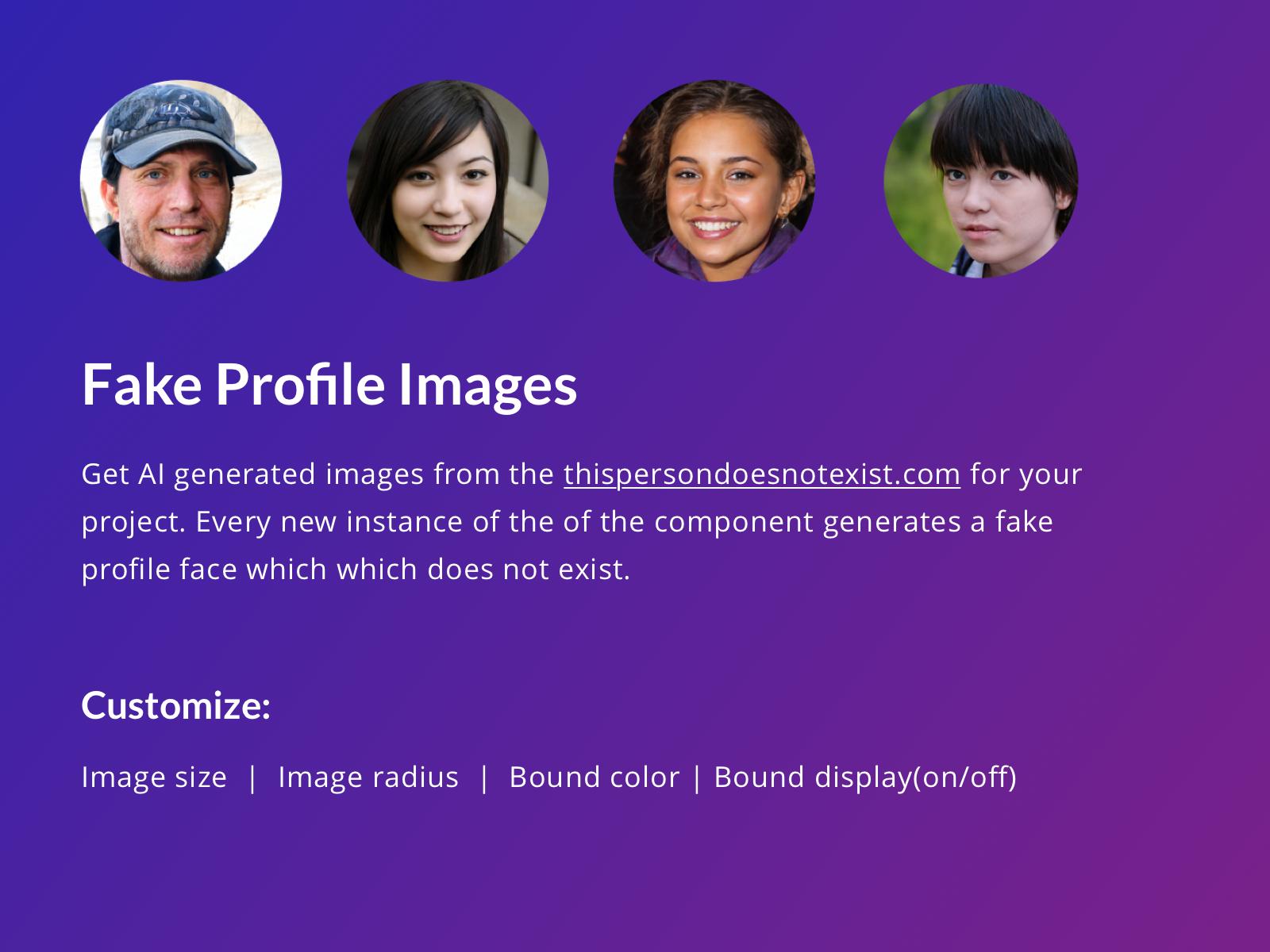 Fake Profile Image