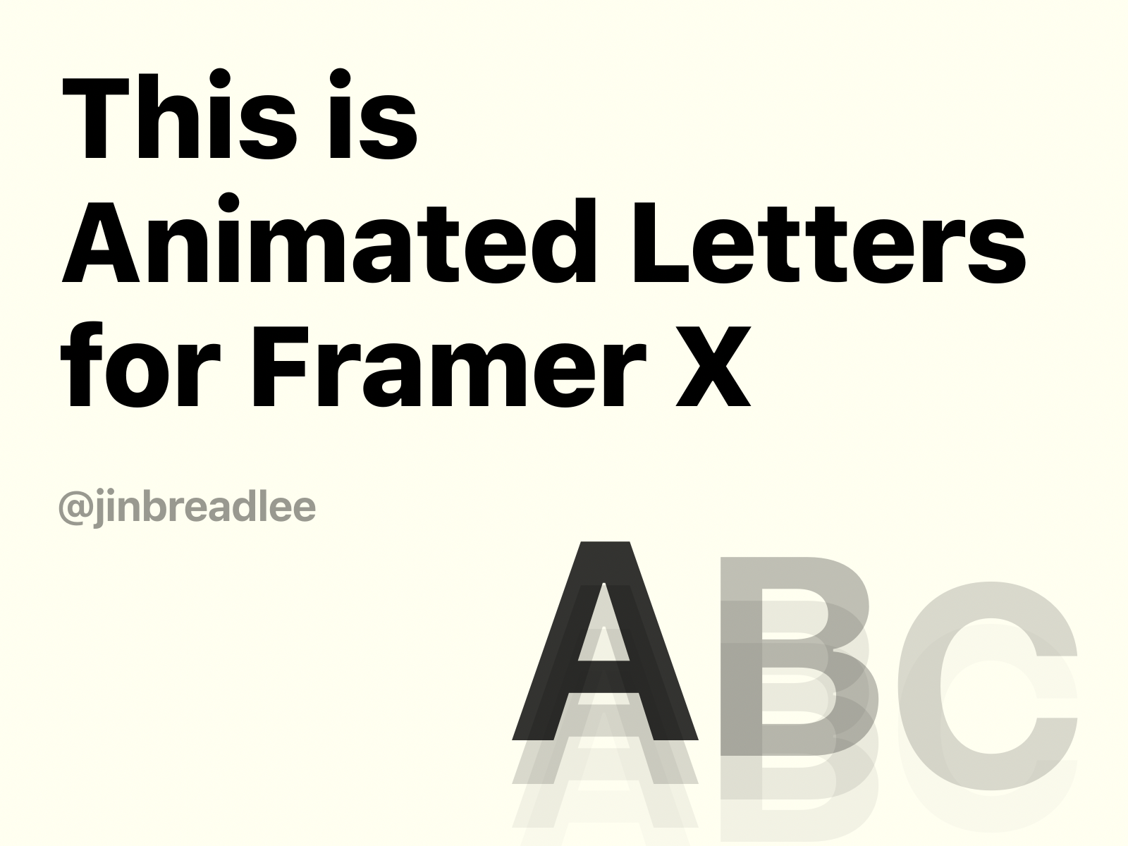 Animated Letters