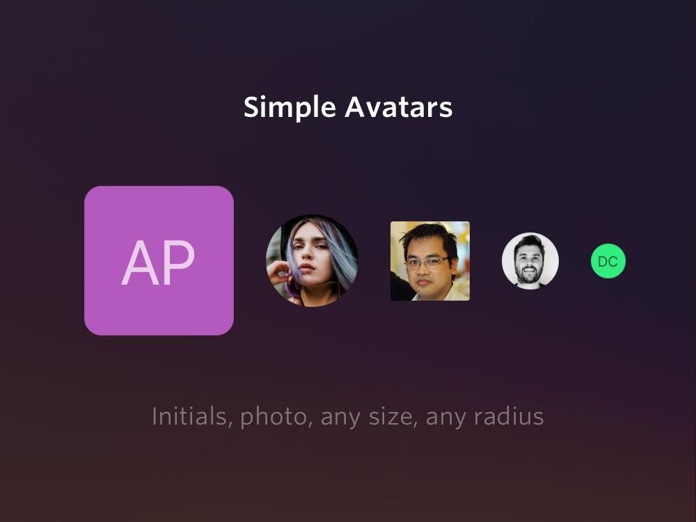 Simple Avatars (photos + initials)
