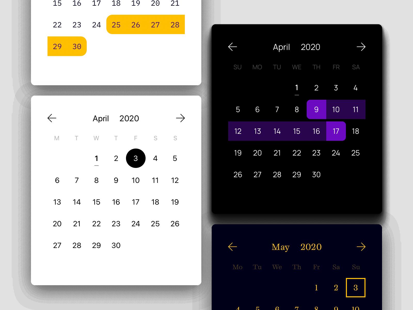Modern Calendar
